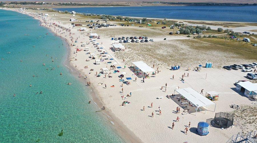 Песчаные пляжи Крыма. Оленевка