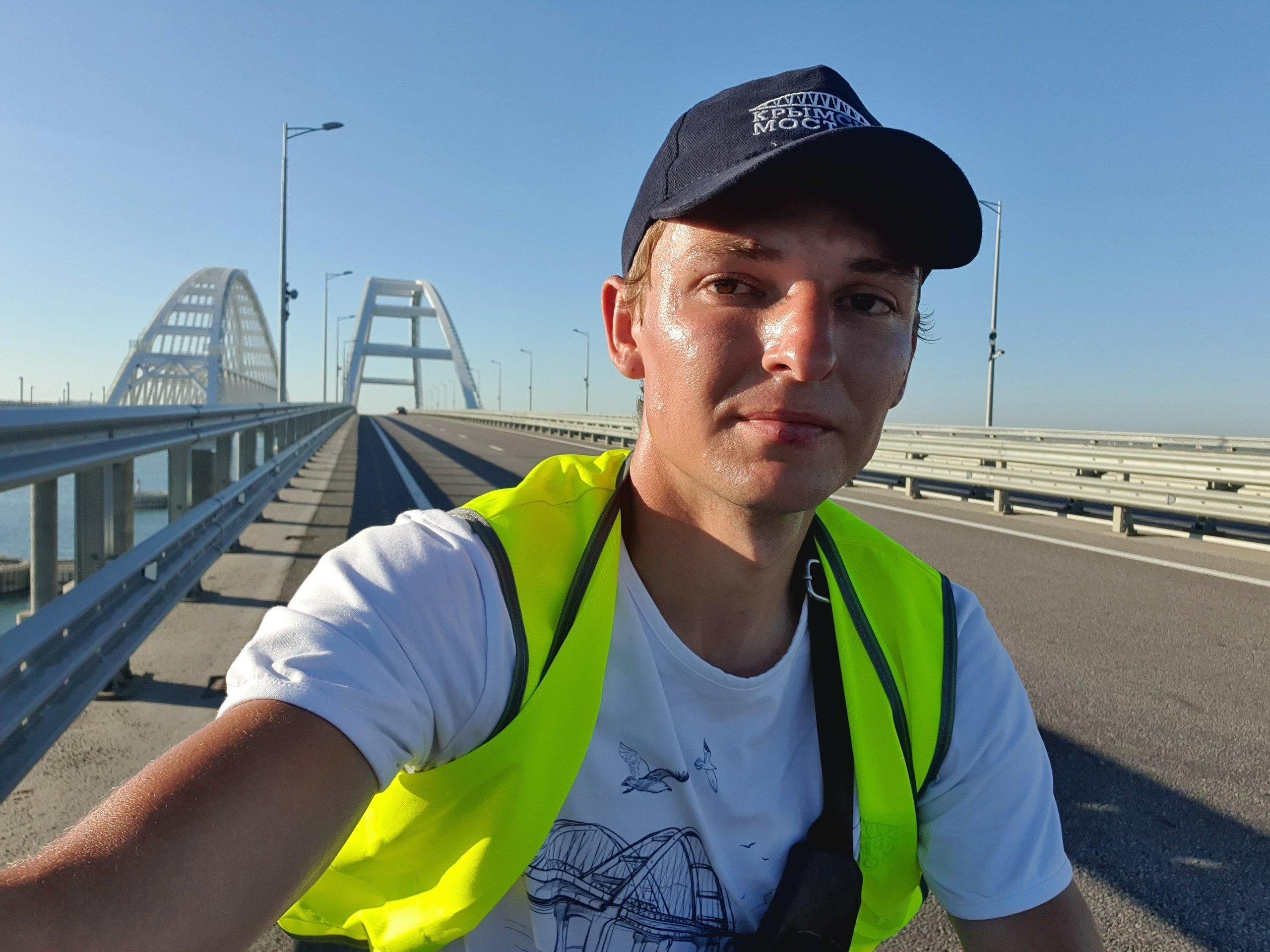 Александр Долгополов на Крымском мосту